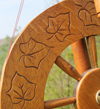 Roger Sear carved wheel detail